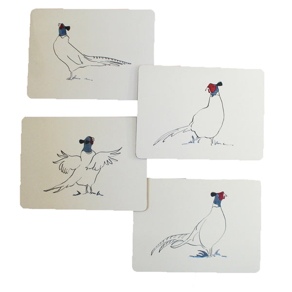 Pheasant tablemats from Cluck Cluck set of 4