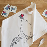 Load image into Gallery viewer, Pheasant tea towel from Cluck Cluck!