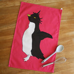 Load image into Gallery viewer, Penguin Pink Colour Tea Towel