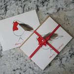 Load image into Gallery viewer, Robin Feather Christmas Cards