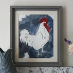 Load image into Gallery viewer, Sussex Cockerel watercolour with ink