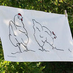 Load image into Gallery viewer, Hen Tea Towel