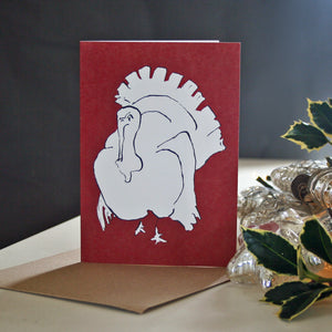 Turkey Christmas Card