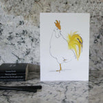 Load image into Gallery viewer, Set of 6 cockerel cards in a tin from Cluck Cluck