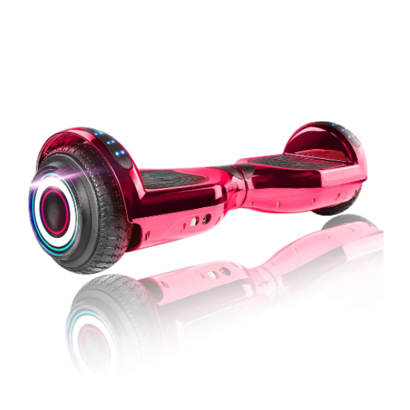 "XPRIT 6.5"" Classic Hoverboard, Chrome Red"