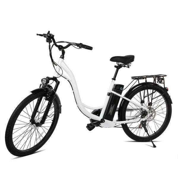 XPRIT 26'' City Electric Bicycle, Light Weight, LCD Display, Full Throttle/Pedal Assist