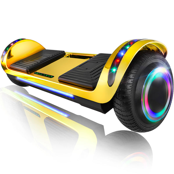 "XPRIT 6.5"" Flat Hoverboard-Chrome Gold"