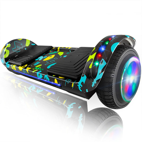 "XPRIT 6.5"" Hoverboard Self-Balance Two Wheel w/Built-in Wireless Speaker-Image Black"