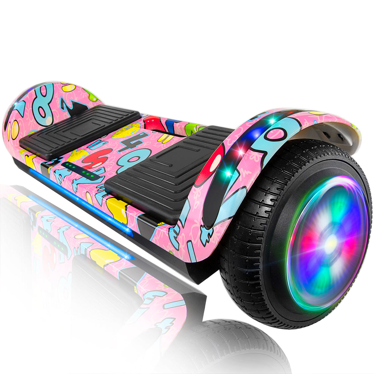 "XPRIT 6.5"" Hoverboard Self-Balance Two Wheel w/Built-in Wireless Speaker-Image Pink"