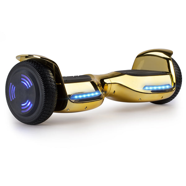 XPRIT Hoverboard Chrome Gold with Wireless Speaker, UL2272 Certified