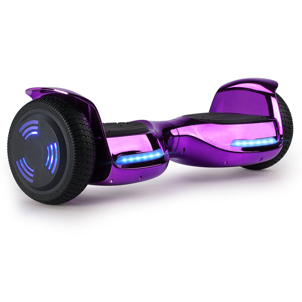 XPRIT Hoverboard Chrome Purple with Wireless Speaker, UL2272 Certified