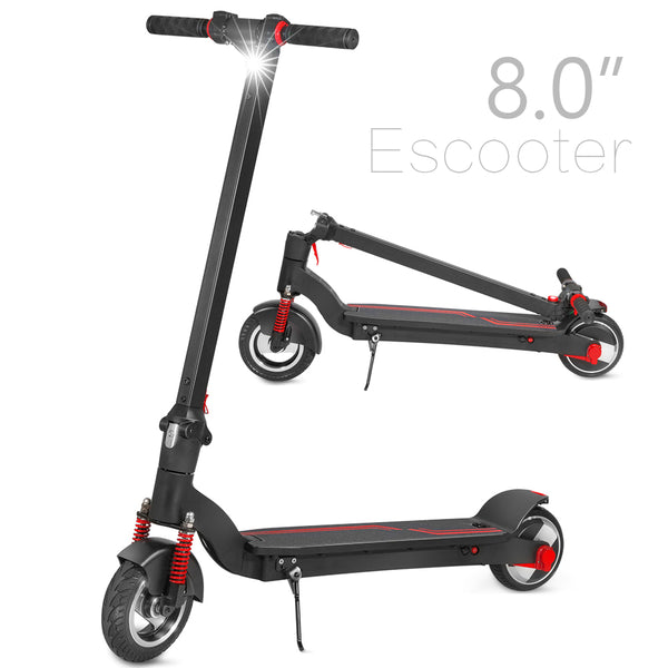 "8"" Electric Scooter with Shock Absorbers, Up to 13 Miles Range, Commuting Scooter"