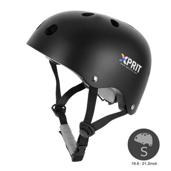 XPRIT Kids/Adults Protection Helmet For Scooter, Hoverboard, Skateboard and Bicycle. Balck Small