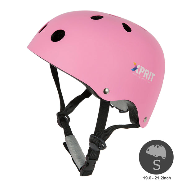 XPRIT Kids/Adults Protection Helmet For Scooter, Hoverboard, Skateboard and Bicycle. Pink Small
