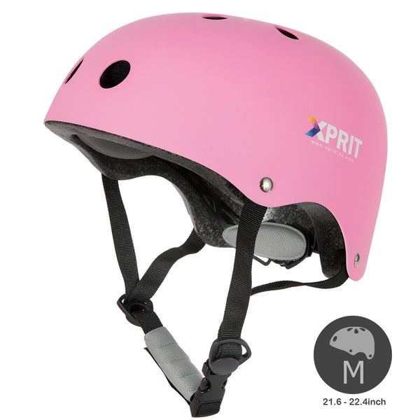 XPRIT Kids/Adults Protection Helmet For Scooter, Hoverboard, Skateboard and Bicycle. Pink Medium
