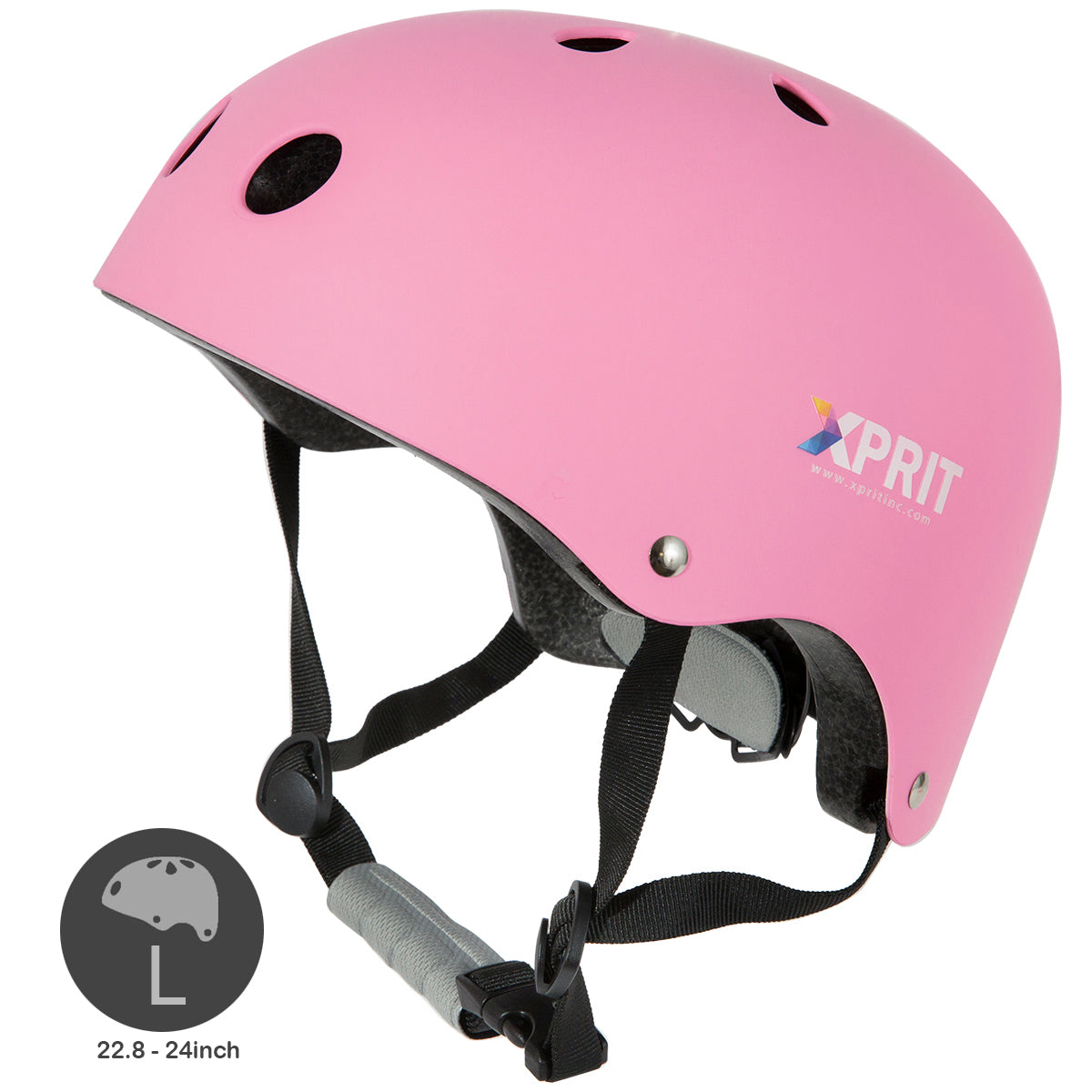 XPRIT Kids/Adults Protection Helmet For Scooter, Hoverboard, Skateboard and Bicycle. Pink Large
