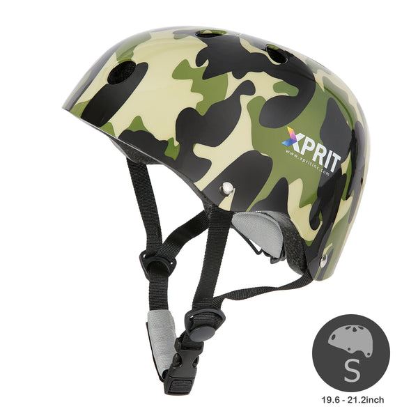 XPRIT Kids/Adults Protection Helmet For Scooter, Hoverboard, Skateboard and Bicycle. Camouflage Small