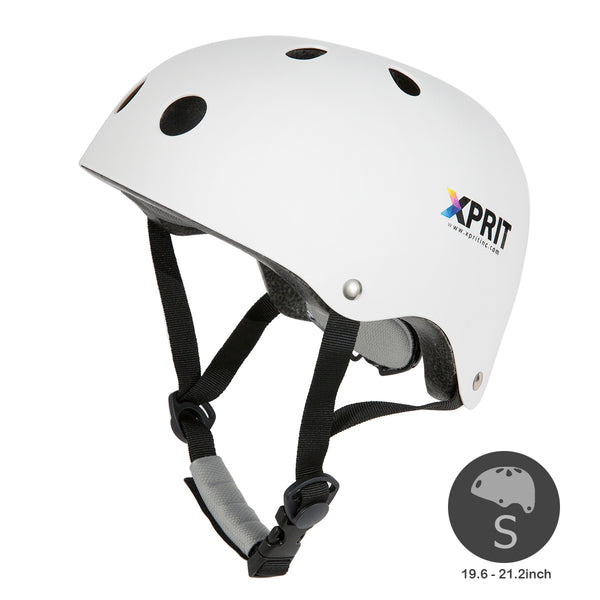 XPRIT Kids/Adults Protection Helmet For Scooter, Hoverboard, Skateboard and Bicycle. White Small