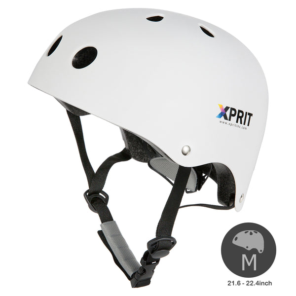 XPRIT Kids/Adults Protection Helmet For Scooter, Hoverboard, Skateboard and Bicycle. White Medium