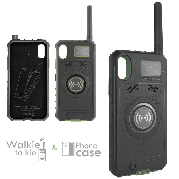 XPRIT Walkie Talkie phone case power bank green Iphone 5.5 Inch