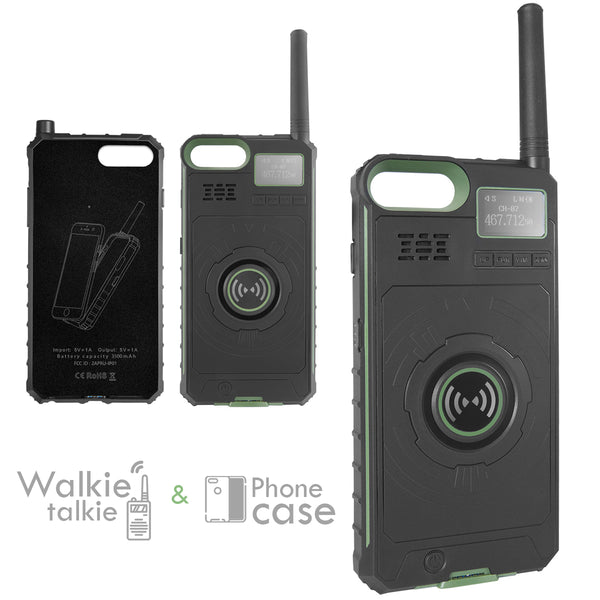 XPRIT Walkie Talkie phone case power bank green Iphone 5.8 Inch