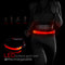 "XPRIT Waist Belt Lights Glow Band for Running, Scooter Safety, Pet Safety w/Rechargeable Battery, Adjustable 30""-40"" Length, Red"