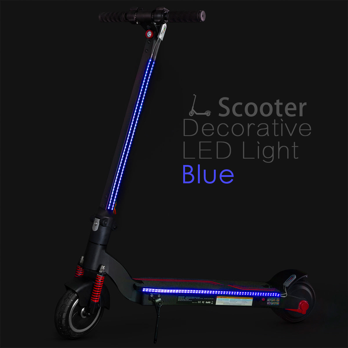 XPRIT Electric Scooter LED Flash Lights Blue