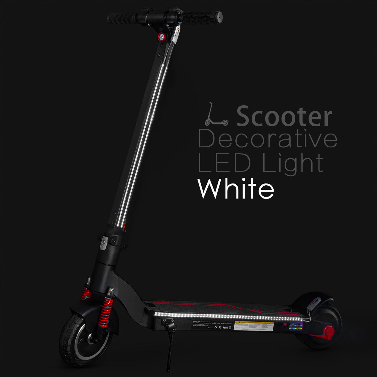 XPRIT Electric Scooter LED Flash Lights White