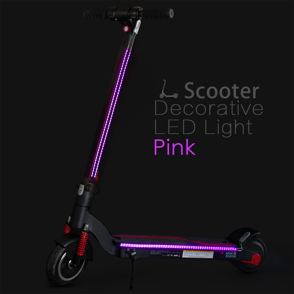 XPRIT Electric Scooter LED Flash Lights Pink