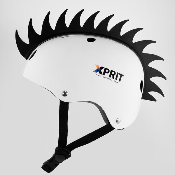 XPRIT Mohawk, Warhawk Wig Accessory Adhesive/Stick On Helmet for Skateboarding, Dirt-Bikes, Motorcycle, Cycling, Black