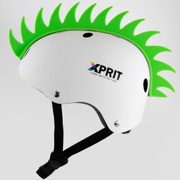 XPRIT Mohawk, Warhawk Wig Accessory Adhesive/Stick On Helmet for Skateboarding, Dirt-Bikes, Motorcycle, Cycling, Green
