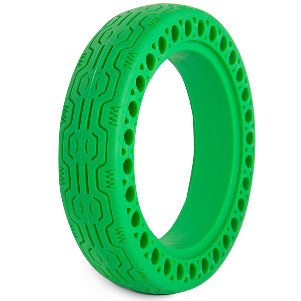 "XPRIT Solid Tires 8.5 Inches Electric Scooter Wheels Replacement Tire 8-1/2'' Front or Rear Honeycomb Tires for 8.5"" Scooter, Green"
