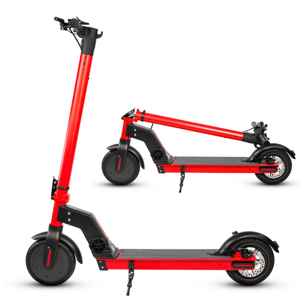 "XPRIT 8.5"" Electric Kick Scooter 350W Motor, 16 mph and 16 Miles Range - RED"