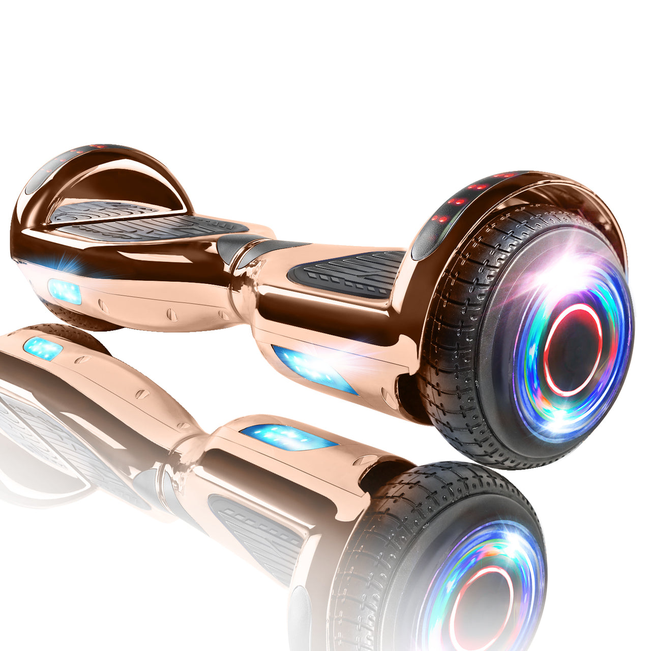 "XPRIT 6.5"" Rosegold Hoverboard UL2272 certified with Wireless Speaker Free Shipping."
