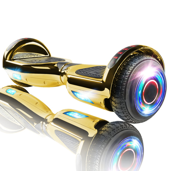 "XPRIT 6.5"" Chrome Gold Hoverboard UL2272 certified with Wireless Speaker Free Shipping."