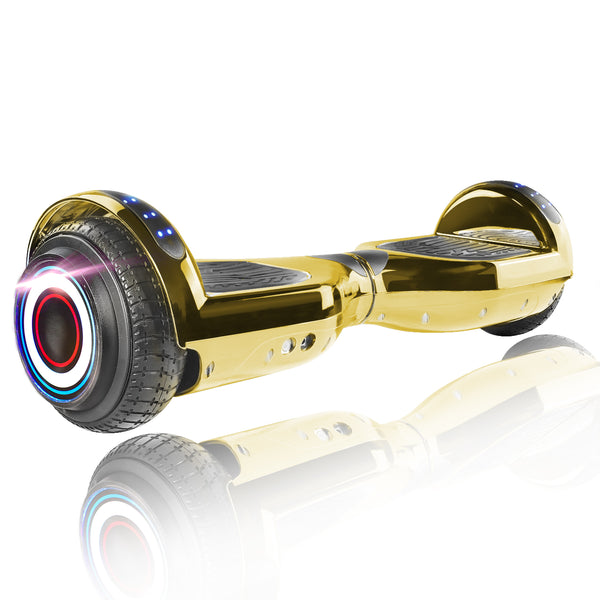 "XPRIT 6.5"" Classic Hoverboard, Chrome Gold"