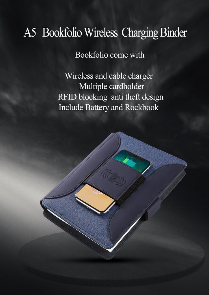 A5   Bookfolio Wireless  Charging Binder
