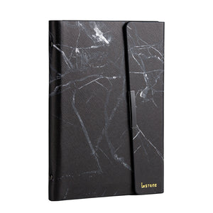 Anti-Theft Stone Binder; black marble, front side.