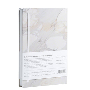 RockBook, A5 Hardcover; white marble rear cover.