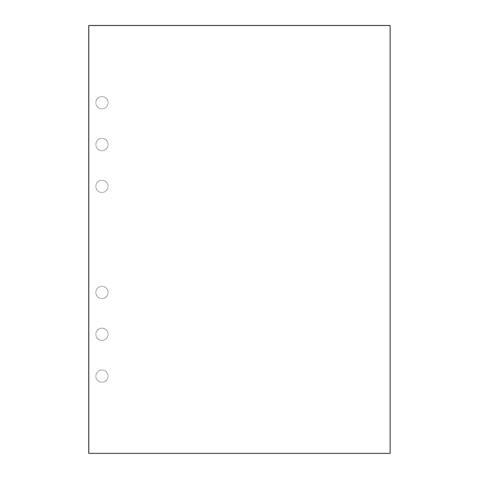Stone Paper Planner Inserts, Blank