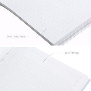 Gray Rock Book comes with cross dotted pages and squared pages.