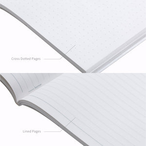 White Rock Book comes with cross dotted pages and lined pages.