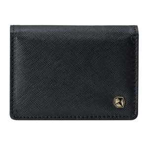 Stone Business Card Wallet, black.