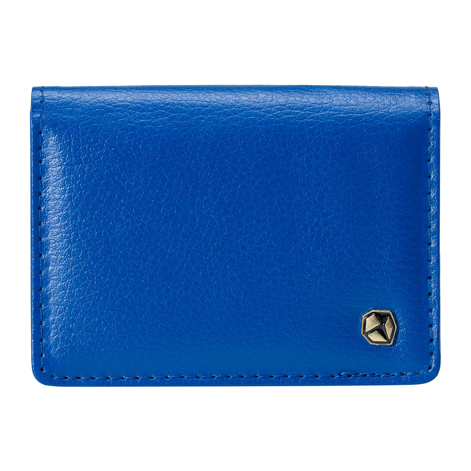 Stone Business Card Wallet, blue.