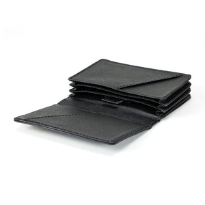 Stone Business Card Wallet interior, black.