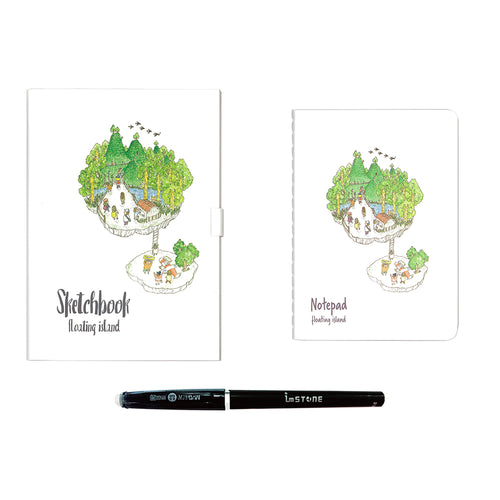 Drawing Book + Passport Book Bundle — Floating Island