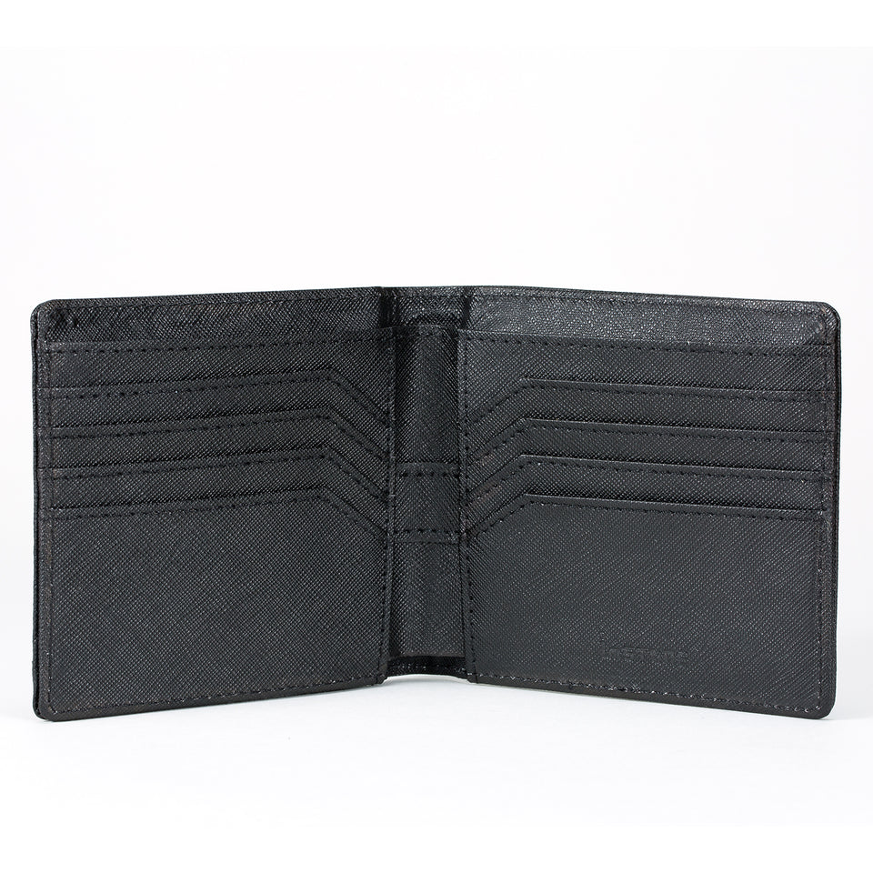 Stone Men's Wallet interior, black.