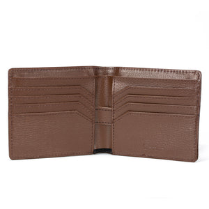 Stone Men's Wallet interior, brown.