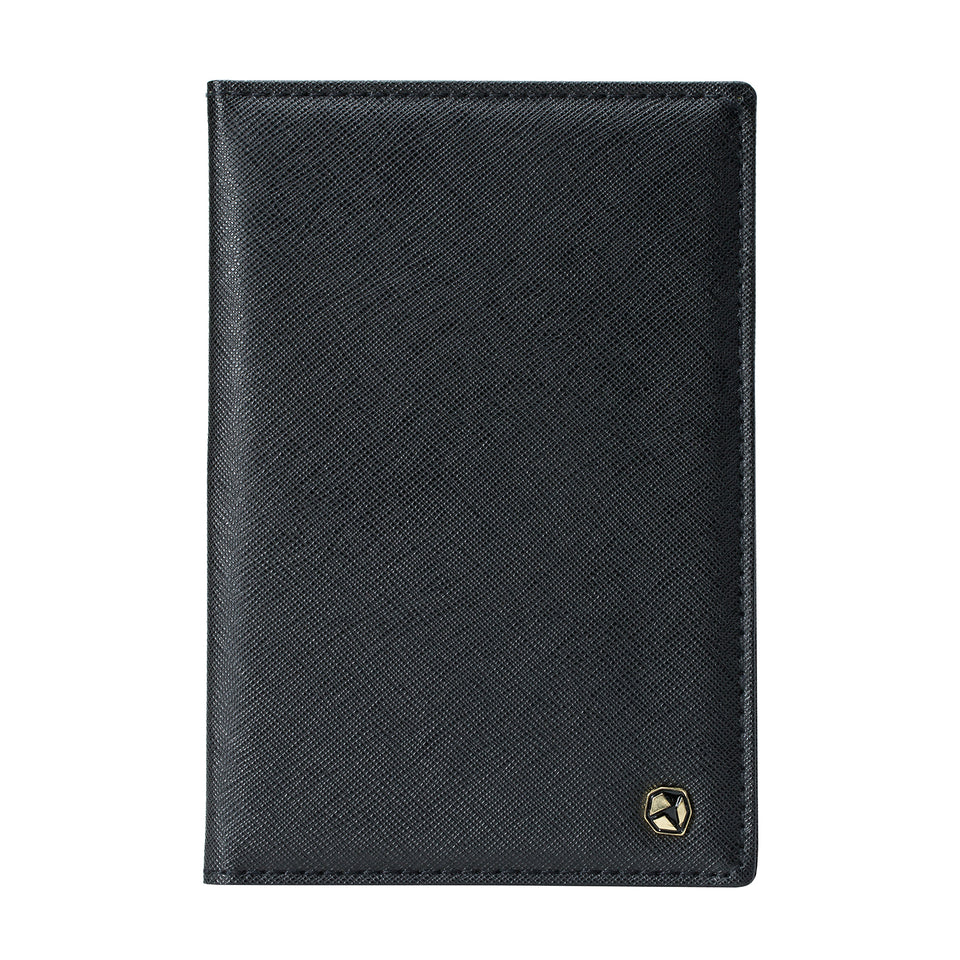 Stone Passport Wallet, black.