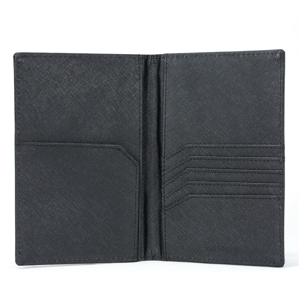 Stone Passport Wallet interior, black.